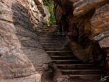 Athabasca Falls Staircase