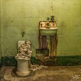 Crumbling Throne and Rusty Tears (or, a toilet and a sink)