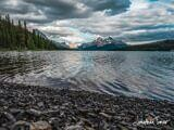 Moody Evening at Maligne Lake
