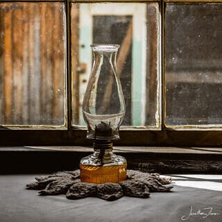 Oil Lamp in Barkerville House