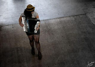 Pike Place Accordion Girl