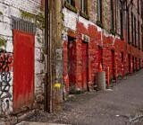Red Doors – Vancouver Back Alley